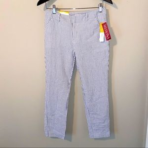 Striped Classic Ankle Pants NWT